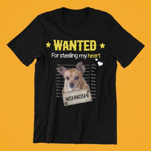 מבוקש! על גניבת הלב שלי (חולצה בעיצוב אישי עם תמונה ושם הכלב שלכם) photo review
