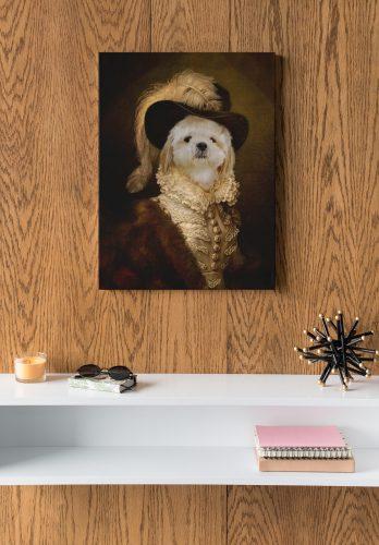 תמונת קנבס - הכלב הדוכס (קנבס בעיצוב אישי עם תמונה של הכלב שלכם) photo review
