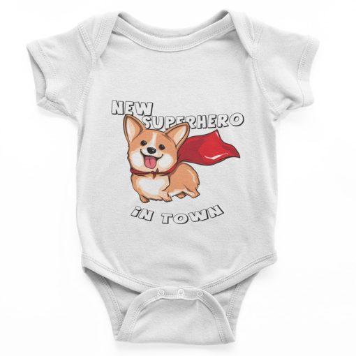 בגד גוף לתינוק כלב קורגי
