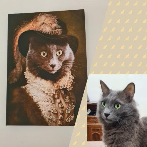 תמונת קנבס - החתול הדוכס (קנבס בעיצוב אישי עם החתול שלכם) photo review